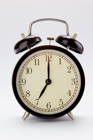 Classic alarm clock at 7 O clock