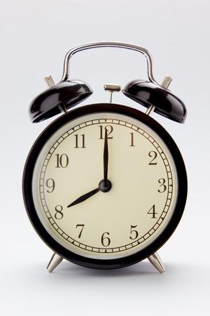 Classic alarm clock at 8 O clock Imagens