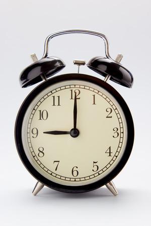 Classic alarm clock at 9 O clock
