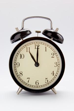Classic alarm clock at 11 O clock