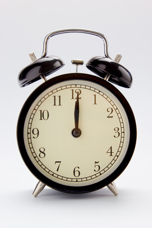12 o'clock: Classic alarm clock at 12 O clock