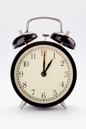 Classic alarm clock at 1 O clock Imagens