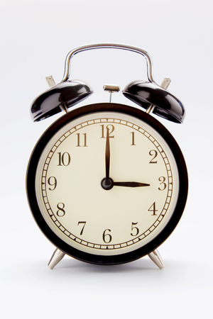 Classic alarm clock at 3 O clock