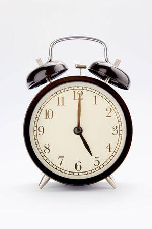 Classic alarm clock at 5 O clock