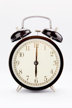 Classic alarm clock at 6 O clock