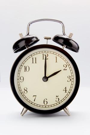 Classic alarm clock at 2 O clock