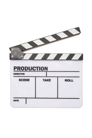 Blank movie clapper board, slate film