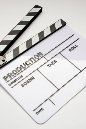 Blank movie clapper board, slate film