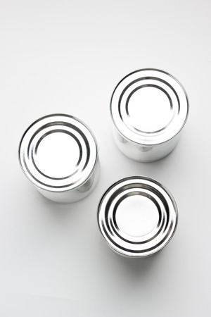 canned food: Can on isolated background