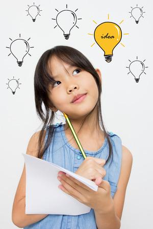 studie: Malá Asijská dívka má mnoho nápad