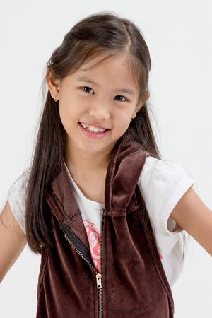 Portrait of happy little Asian child