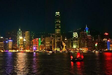 habour: Hong Kong Cityscape at night