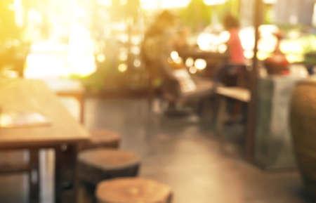 Coffee-Shop-Unschärfe-Stil für den Hintergrund