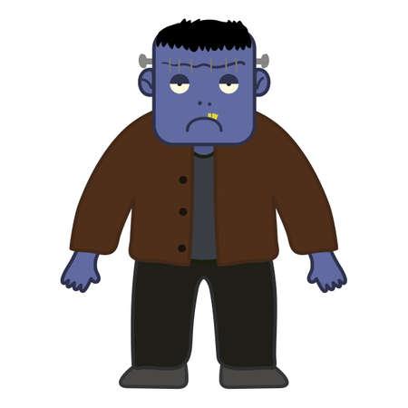 Frankenstein Halloween Cartoon Character Illustration
