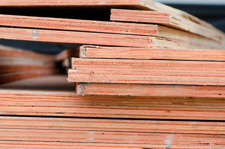 Stacked plywood in factory2