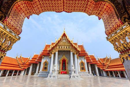 bangkok landmark: Wat Benchamabophit,The Marble Temple,Bangkok