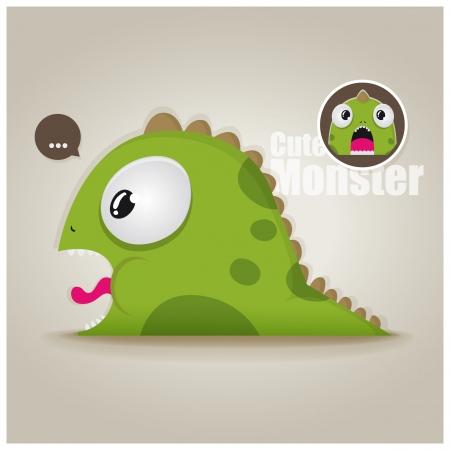 funny cute monster Illustration