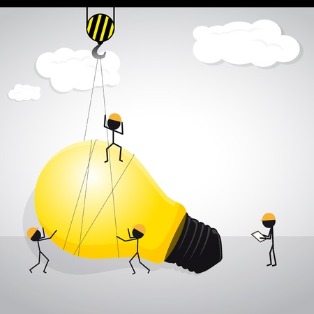 high up: Building to high up idea for business Illustration