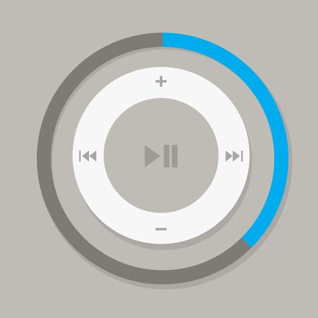 Web-Schaltflächen und Symbole Musik steuert