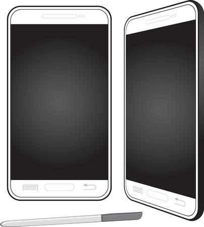 Mobiltelefon mit Stift Vektor