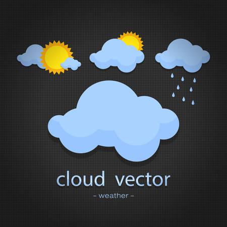 Symbol Wetter auf Blackground zurück