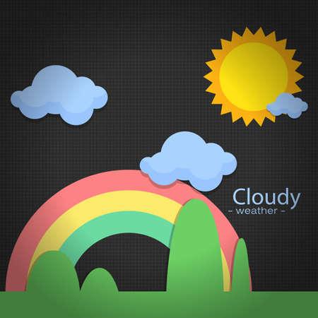 icon Wetter auf der Rückseite blackground Illustration