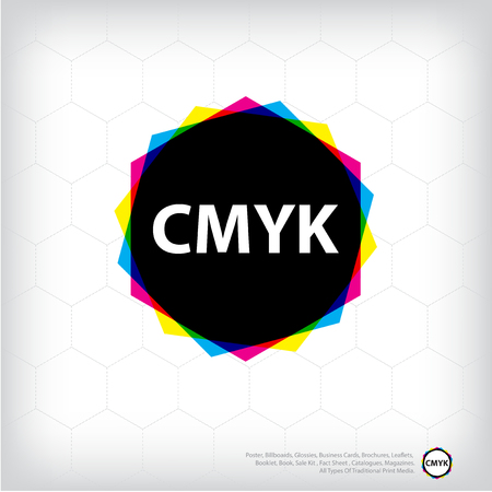 cmyk abstract: cmyk abstract background, print color Illustration