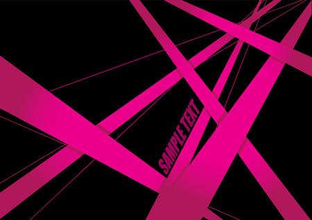 Abstrakter Hintergrund geometrisches Rosa und Schwarzes Illustration