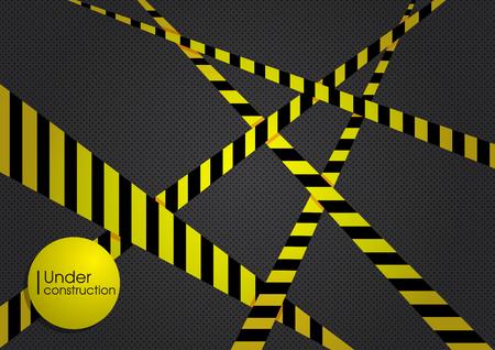Baustelle gelben schwarzen Hintergrund