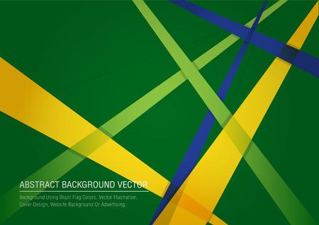 Vector geometrischen Banner in Brasilien Flagge Konzept, Poster-Vorlage Vektor-Hintergrund Illustration