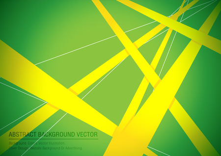 Abstrakten Hintergrund geometrischen gelb und grün