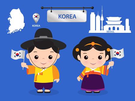 Korea Kinder Charakter