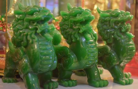 three pi xiu green color