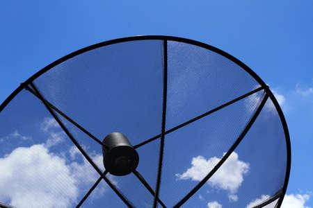 antena parabolica: Una antena parab�lica Foto de archivo
