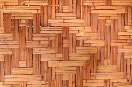 handcraft: Pattern of Thai style bamboo handcraft texture Stock Photo