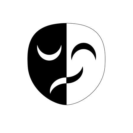 The masks with different emotions symbol Illustration