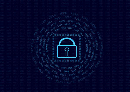 digest: Abstract security encrypt data concept and message digest