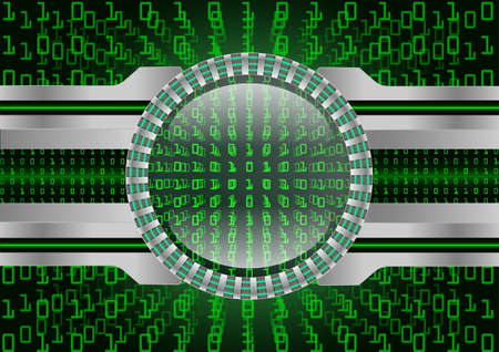 igital Magnifying Glass scanning and identifying data and Data security; Cyber security concept