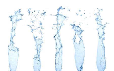 splash de agua: salpicaduras de agua aislados en blanco Foto de archivo