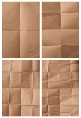 paper packing: colecci�n de varios papel de embalaje plegable en el fondo blanco cada uno es disparado por separado