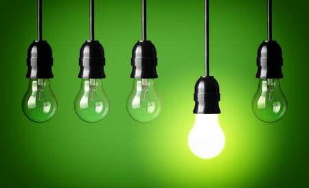 Idea concept Green background