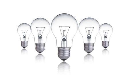 focos de luz: Lámparas de la bombilla Foto de archivo