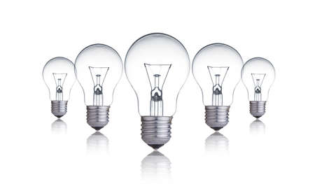 Light bulb lamps Stock Photo