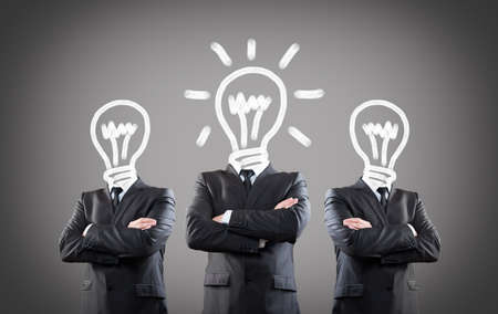 businessman with big idea