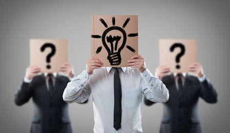 reproach: Idea concept with businessmen