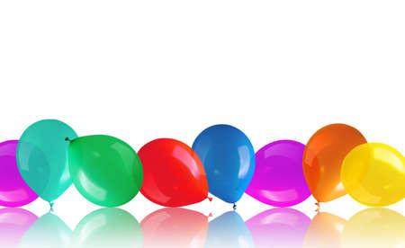 children s: Children s party colorful balloons on floor Stock Photo