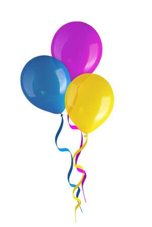 globos de cumplea�os: Ni�os s globos de colores partido