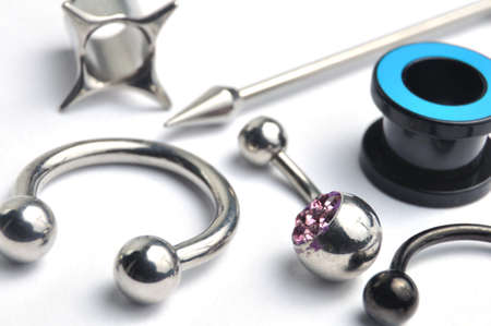 Many jewelry for piercing photo