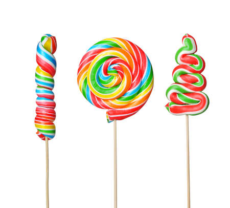 Colorful lollipop isolated on white background