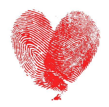 fingerprint: fingerprint heart Stock Photo